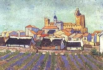 Van Gogh - vista di Sainte Marie de la mer